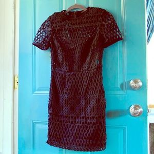 NWOT Woven/ Latticed Bodycon Dress